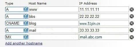 域名DNS设置