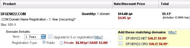 Godaddy4.95美元域名优惠码