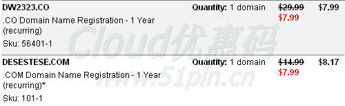 GoDaddy $7.99 co/com